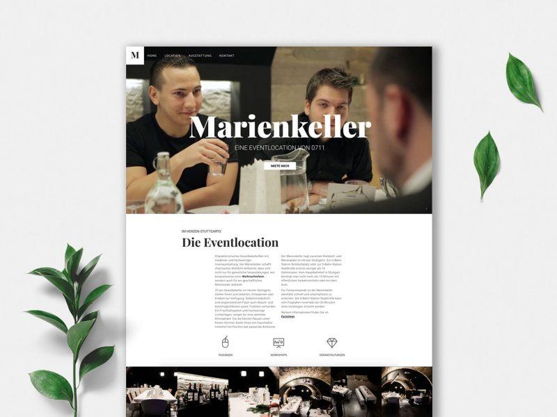 Webdesign Marienkeller