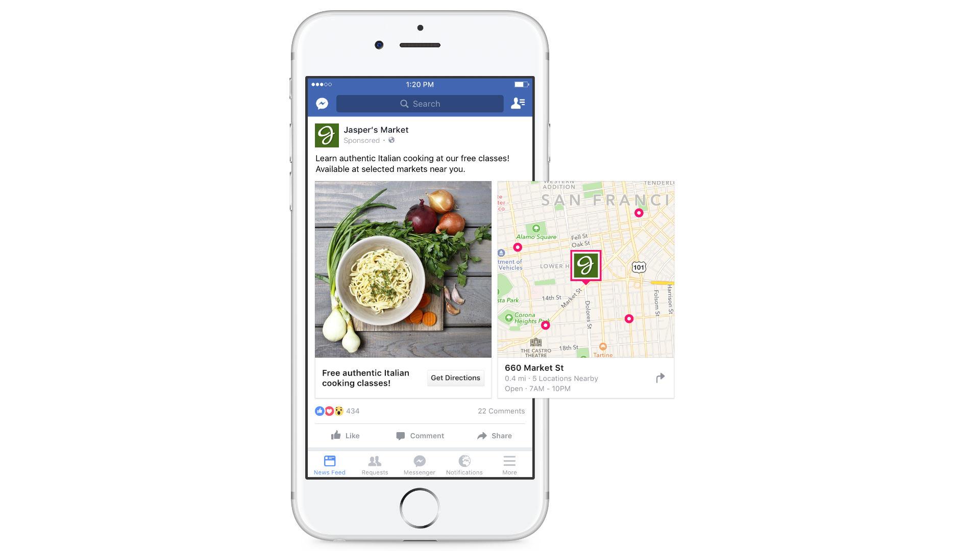 Lokale Werbung mit FB