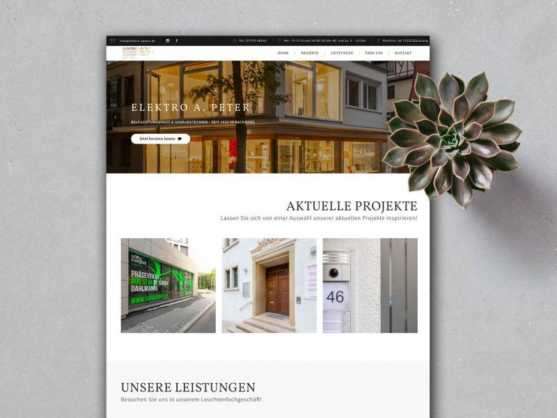 Webdesign Elektro A.Peter
