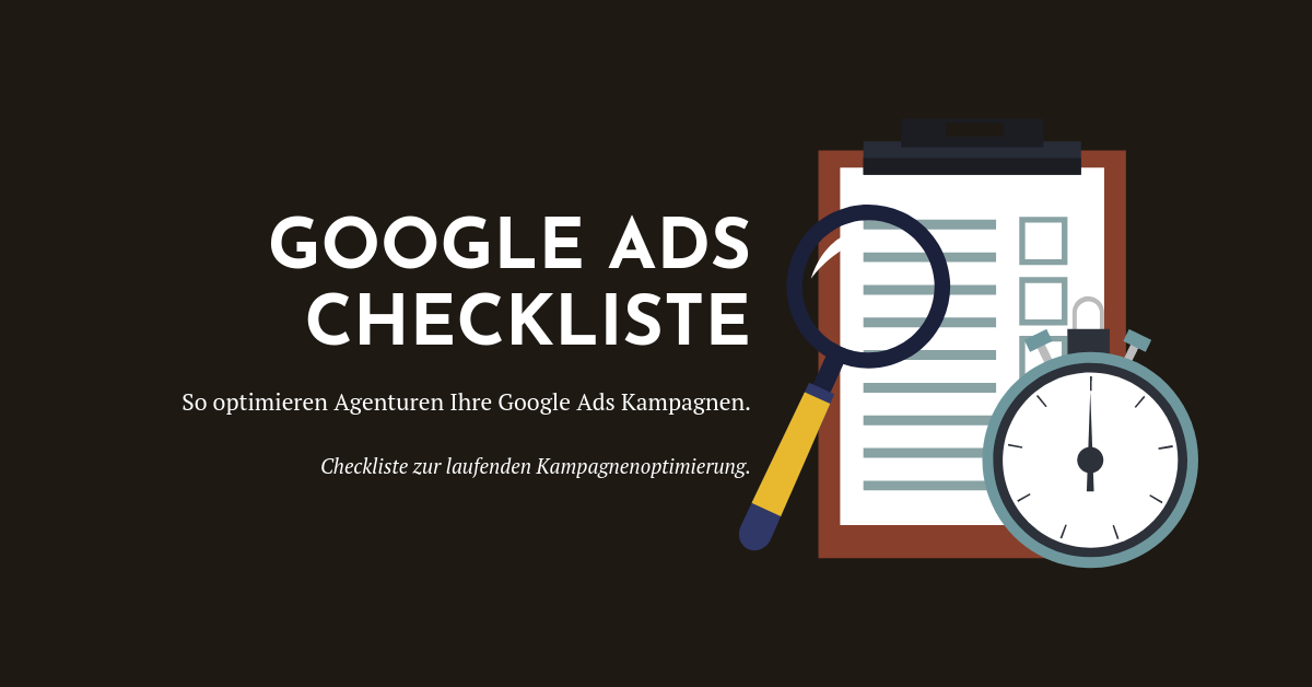 Google Ads Checkliste