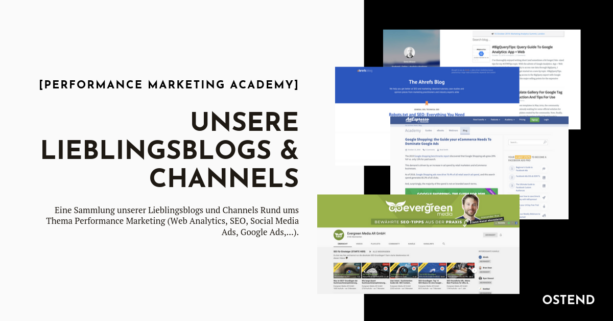 Performance Marketing - unsere Lieblingsblogs und Channels