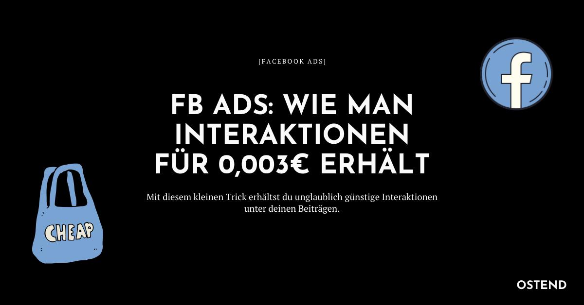Günstig Facebook Ads schalten